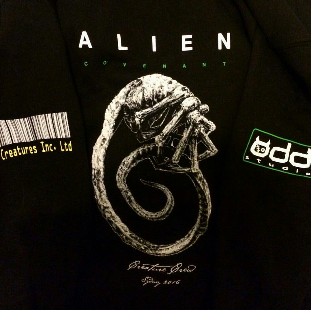 Alien covenant set photos revealing facehuggers xenomorphs eggs and