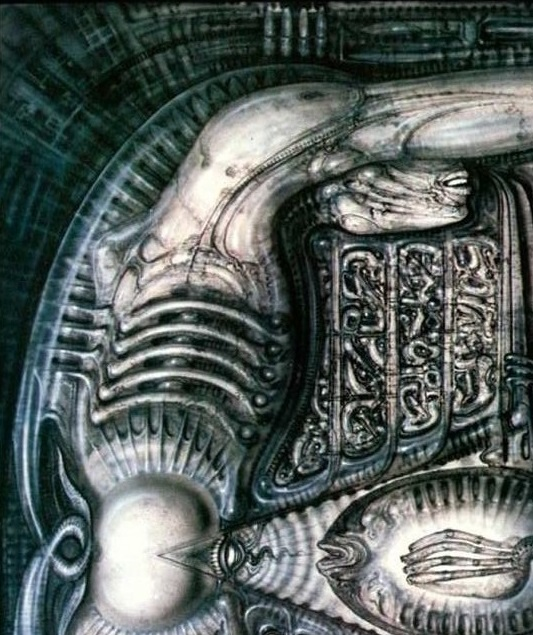 Alien Queen/Mother Creature in Giger's Alien Mural - Alien